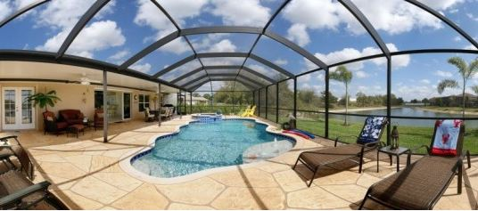 Pool am Ferienhaus in Cape Coral Florida